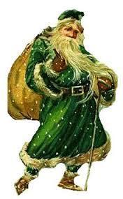 Babbo Natale con mantello verde