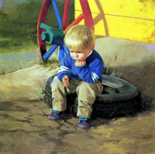 donald zolan the thinker painting