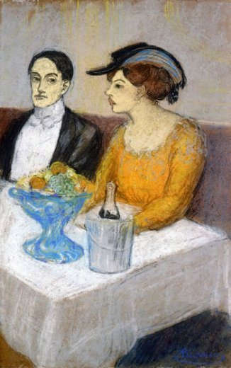 Man and Woman at table