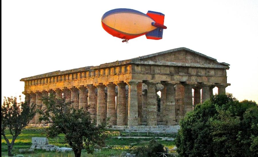 Volo in Mongolfiera Paestum Templi