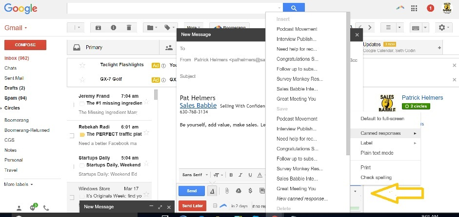 How To Use Gmail Canned Responses