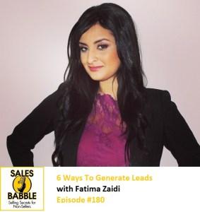 Fatima Zaidi Sales Babble