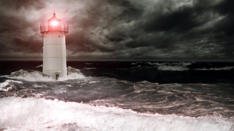 Lighthouse in a Storm Uncertain Times