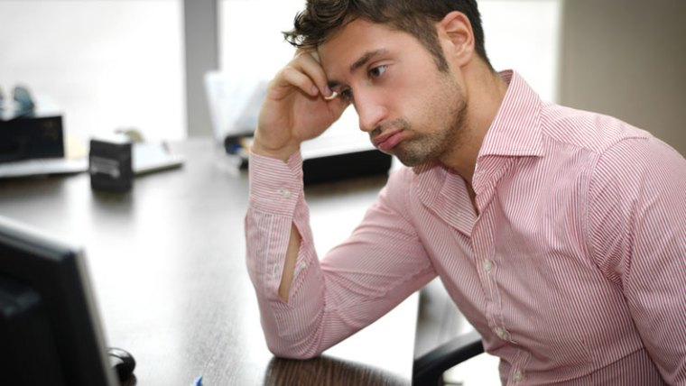 Frustrated Salesman Not Closing Enough Business