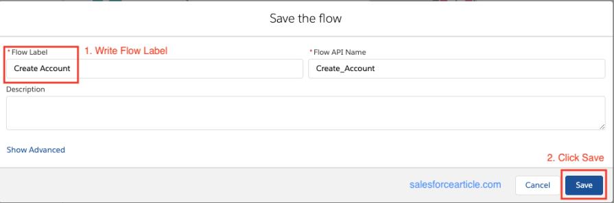 Save Flow