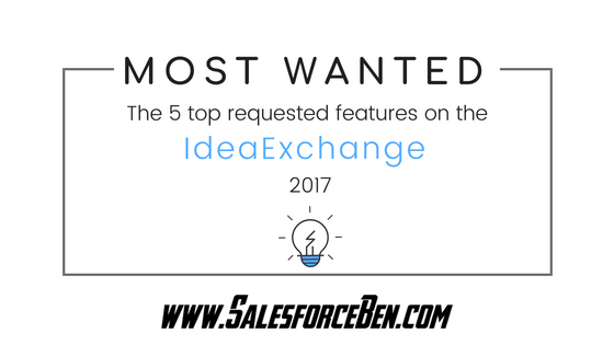 IdeaExchange Most Wanted: top 5 requested Salesforce