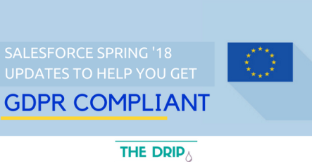 Salesforce Spring '18 Updates to help you get GDPR Compliant