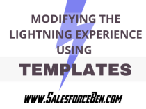 Modifying the Lightning Experience Using Templates