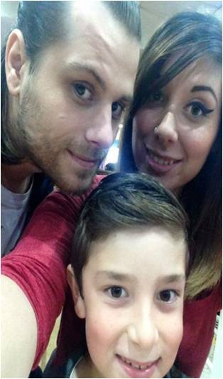Siobhan with son Anthony and her now partner Dean.