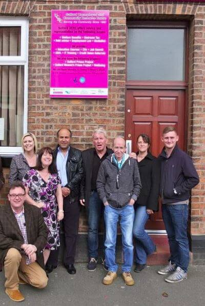 The Salford Unemployed Community Resource Centre Team who are helping homeless people to vote in 2018 Local Election