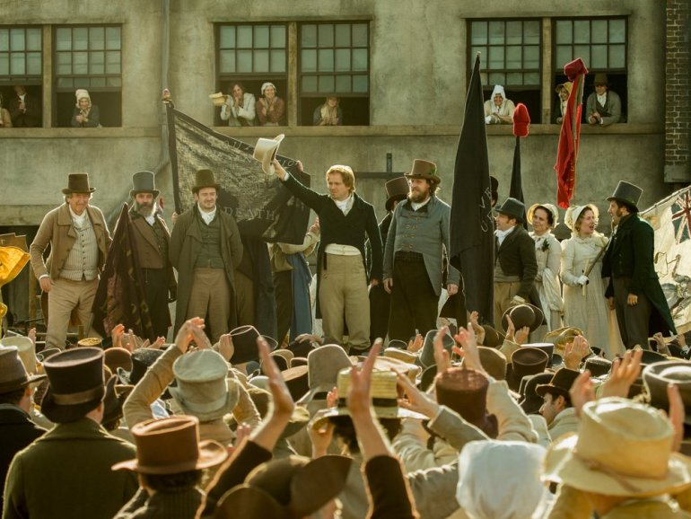 A still image from the movie Peterloo