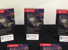 The launch of the Routledge Handbook of Football Business and Management.