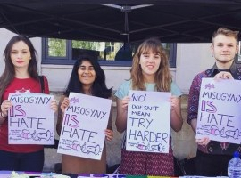 Salford women join 'Misogyny is Hate' campaign