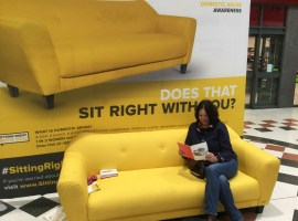 The #SittingRightWithYou campaign comes to Salford Precinct