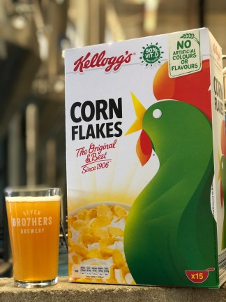 Cornflake beer Throw Away IPA. Image credit: Kellogg's UK