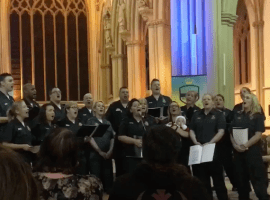 Emergency services spread festive cheer with carol concert at Salford Cathedral