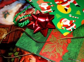 holiday, gift, wrap