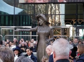 Salford University march to meet 'Our Emmeline'