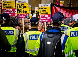 Say No to Tommy Robinson march and rally in London on Sunday 9th December 2018. Photo: Garry Knight