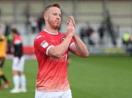 Adam Rooney after Cambridge United victory (Credit: Salford City – Charlotte Tattersall)