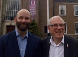 Salford Mayor Paul Dennett with John Ferguson