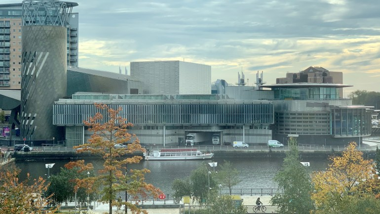 Image: Photograph of The Lowry, Salford Quays