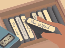 'Open Doors: Stories From A Very Different Salford' produced by Chronicle Films   Beena Khetani - Chronicle FIls  Animation - Michael Pettyt, Tracks and Layers