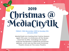Christmas 2019 at MediaCityUK