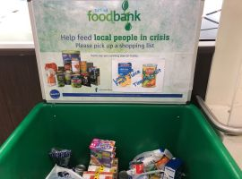 Credit: Joachim Remvik  A Salford foodbank collection point