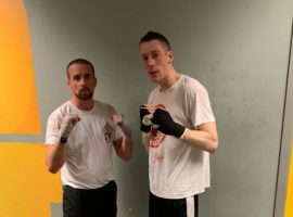(Whiteside, on the right, preparing for his bout, image courtesy Whiteside)