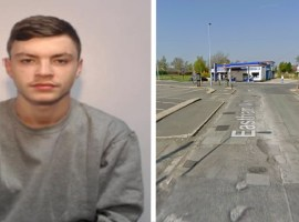 Mitchell McGivern. Image on the left supplied by GMP, Image on the right: Google street view