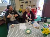 Photos of residents meeting in the Friends of Buile Hill Park pavilion Copyright: Natacha Pires