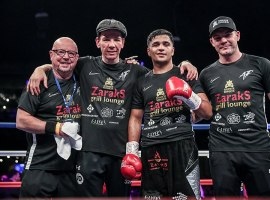 Jamie Moore (far right). Image credit: Boxingupdates0931 / CC BY-SA (https://creativecommons.org/licenses/by-sa/4.0)