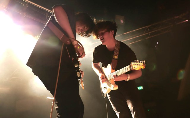 Sam Davies (left) and frontman Jake Vickers (right). Image credit - Alyx Ashton