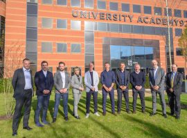 The Class of '92 and others at the launch of UA92 last year. Image credit: Nick Harrison