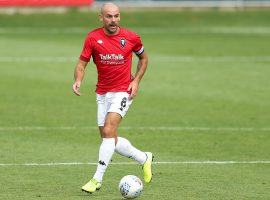 Darron Gibson in Salford's training kit. Credit: Salford City