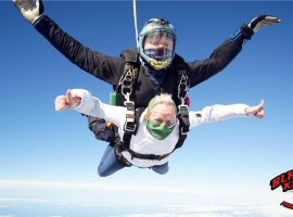 """I was frightened of heights!"" – daredevil grandma makes 15,000ft charity skydive for Veteran Care Village"