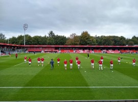 Salford Players warming up Credit: Sanny Rudravajhala