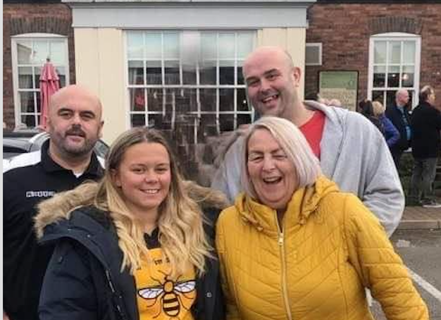 Amy Scott and family fundraising for her uncle