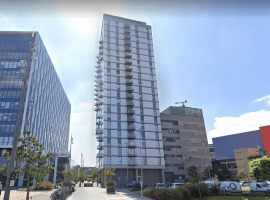 Image of MediaCityUK One Apartment block from Google Maps.