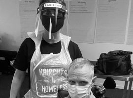 Jackie McColl has been team leader for Haircuts 4 Homeless Manchester for two years.