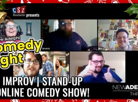 Virtual Christmas comedy night at the new Adelphi