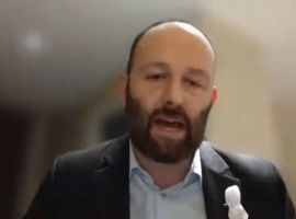 Salford City Mayor Paul Dennett speaks at the 'A Bed Every Night' remote conference. - Image taken from youtube