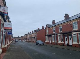 Terraced Houses on Blandford Road, Salford. Credit: Jacob Teagle