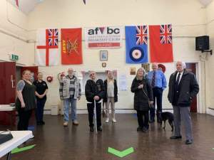 A meeting of the Salford Armed Forces and Veterans Breakfast Club. Copyright: Peter Barlow, 2020.