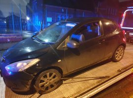Car crashes after a police chase through Eccles