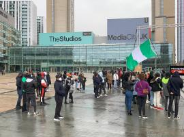 Nigeria Student Society (NSS) assembled at the BBC