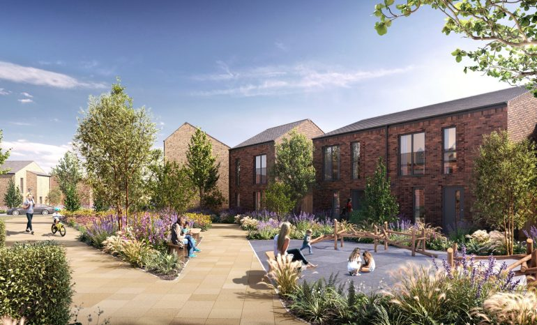 New Castle Irwell Homes which could benefit from the Green Homes Grant in Salford. Photo credit: https://salboy.co.uk/