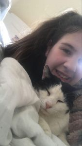 Ashlea Franks, 16, who runs Independent Cat Rescue alongside her mother, Barbara