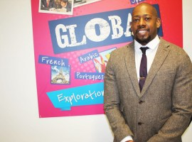 Dwain Brandy pictured at Oasis Academy